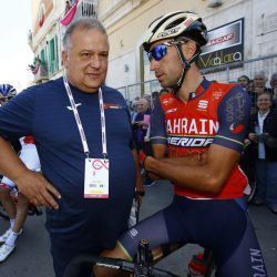 Giro d'Italia 2017 - 100th Edition - 8th stage Molfetta - Peschici 189 km - 13/05/2017 - Vincenzo Nibali (ITA - Bahrain - Merida) - Paolo Slongo (ITA - Bahrain - Merida) - photo Luca Bettini/BettiniPhoto©2017