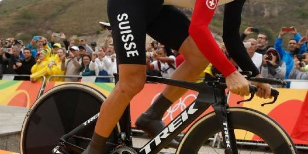 Switzerland's Fabian Cancellara won the men's individual time trial to take home his second gold medal