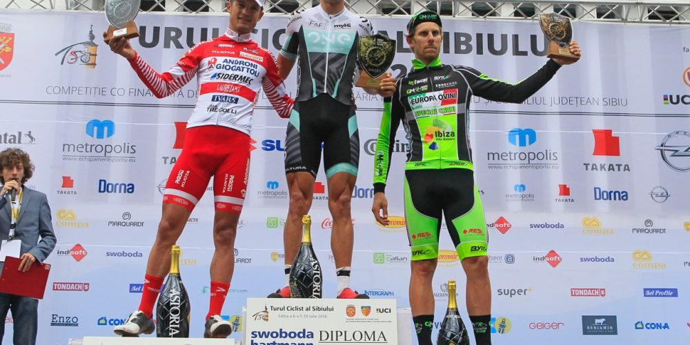 PODIO CON VIGANO' NEL SIBIU CYCLING TOUR