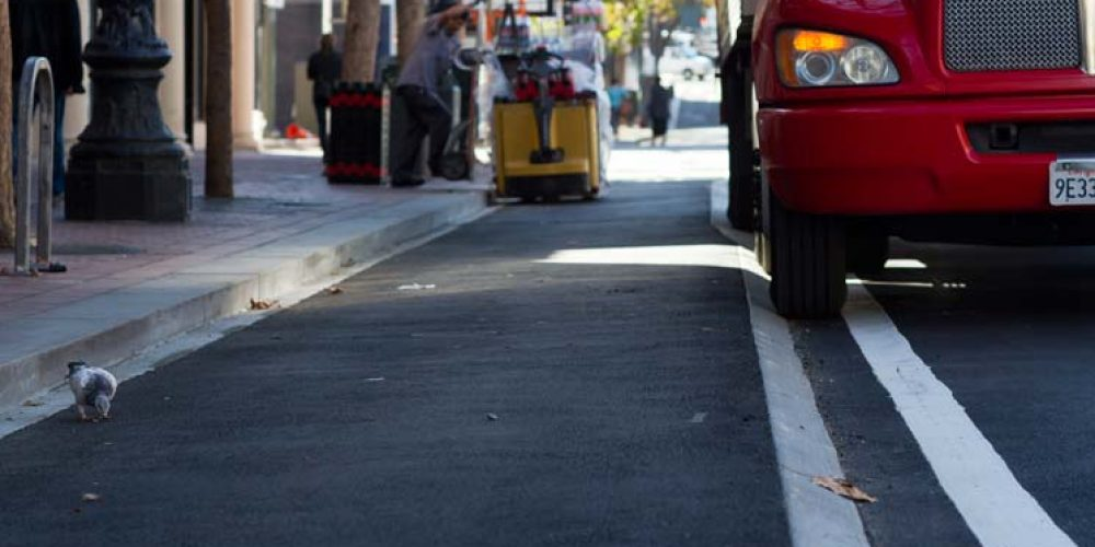 San Francisco experiments elevated cycle paths