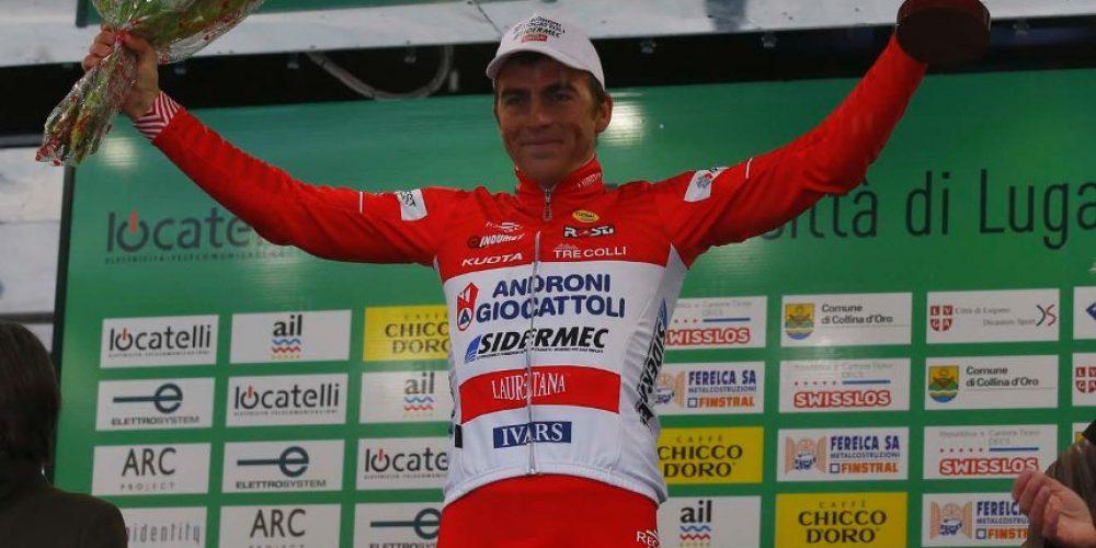 Sul podio a Lugano con Tvetcov, vincitore del Gran Premio della Montagna