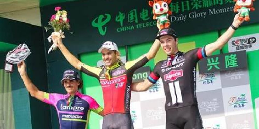 TOUR OF HAINAN: STAGE AND LEADER'S JERSEY FOR RAFAEL ANDRIATO