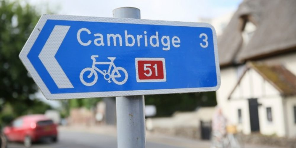 In Cambridge, one out of two people moves off by bicycles