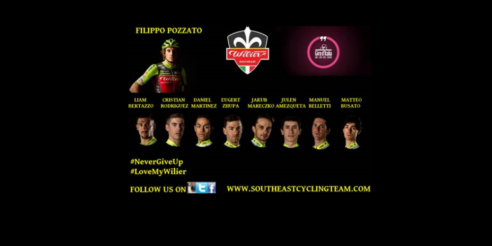 OFFICIAL LINE UP FOR THE GIRO D'ITALIA