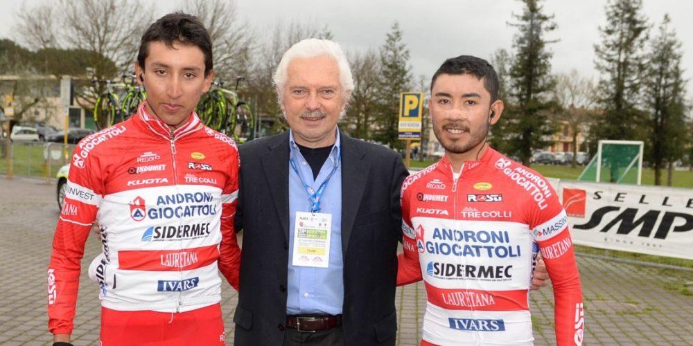 Egan y Rodolfo en la Coppi Bartali