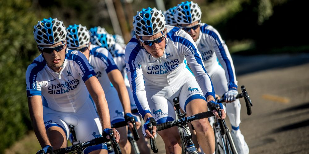 Team Novo Nordisk, the first team of professional cyclists with diabetes