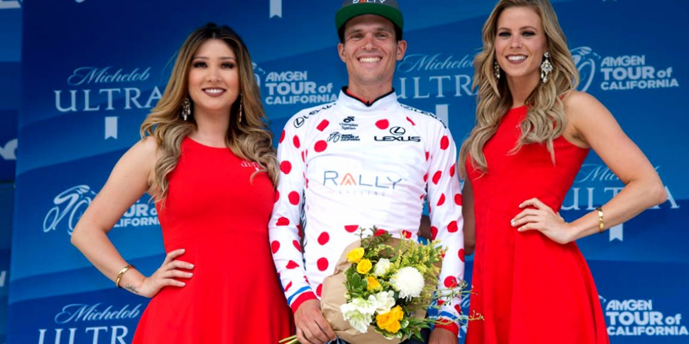 Evan Huffman Coronato King of the Mountains all'Amgen Tour of California