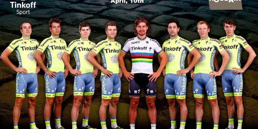 Peter Sagan cerca di prolungare l'ottimo momento delle Classiche del team Tinkoff alla Parigi-Roubaix