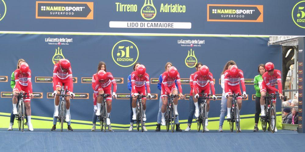 Buona difesa nella cronosquadre alla Tirreno Adriatico