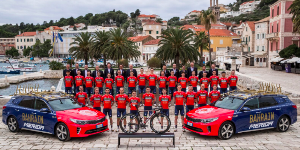 SPORT PLUS HEALTH CON NIBALI E TEAM BAHRAIN MERIDA