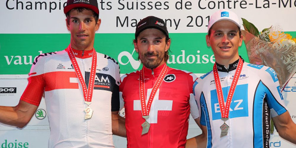 Cancellara ha vinto il decimo titolo nazionale nella corsa a cronometro.