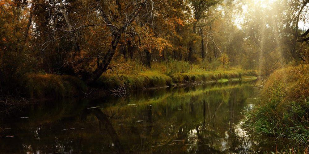 Trail adventure Lakes66, in the Secchia River Park